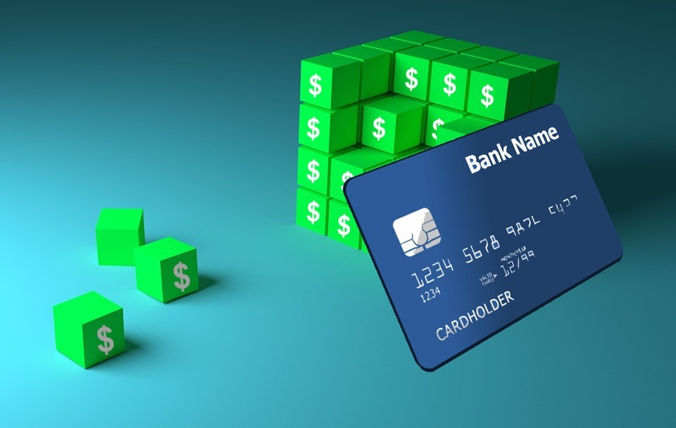 Credit card bank concept