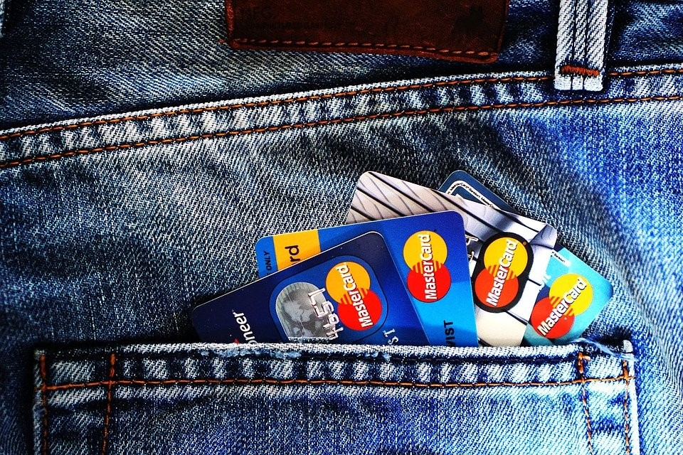 Credit cards in pocket